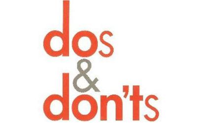Plumbing DOS and DON'TS